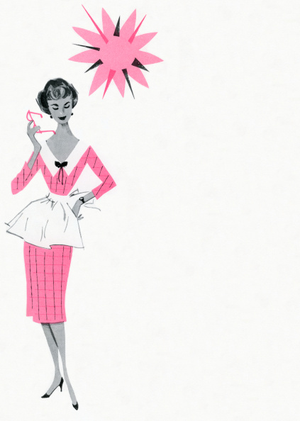 Copy Space「1950s Housewife Wearing Pink」:写真・画像(13)[壁紙.com]