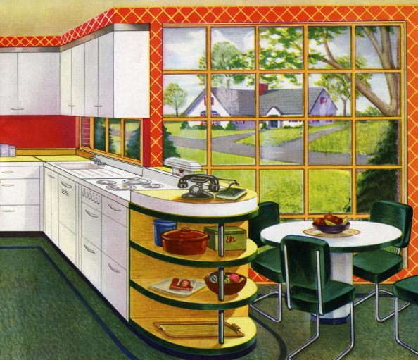 Mid-Century Style「1940s Kitchen And Eating Nook」:写真・画像(14)[壁紙.com]