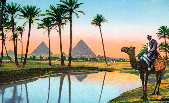 GraphicaArtis「Man On Camel At Giza Pyramids」:写真・画像(9)[壁紙.com]