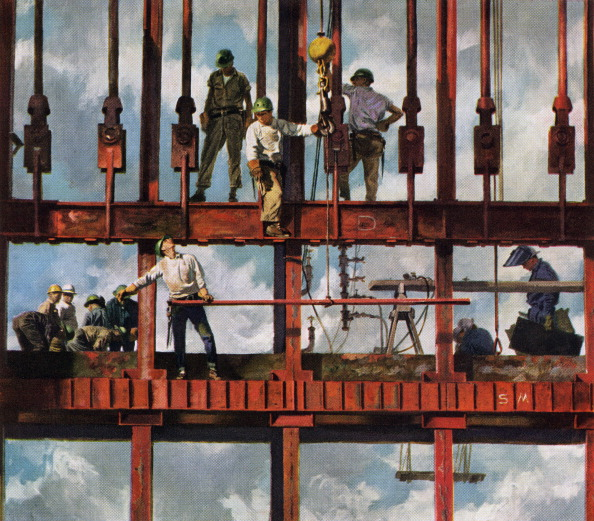 Construction Industry「Construction Workers On Site」:写真・画像(16)[壁紙.com]