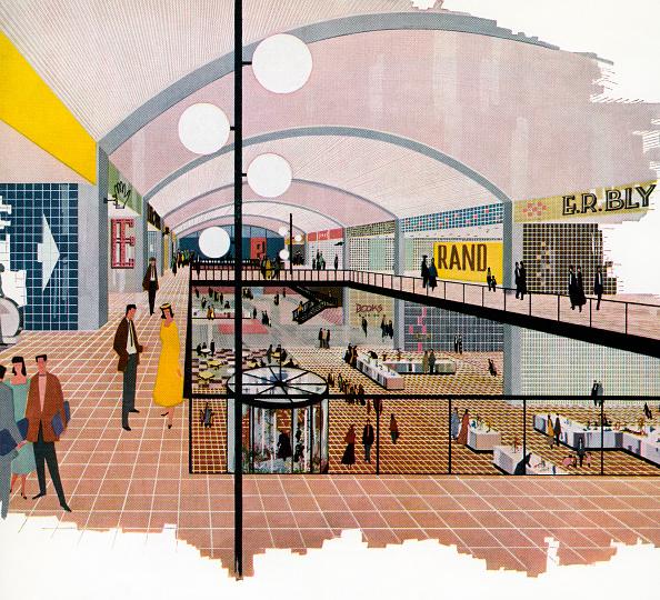 Mid-Century Style「Illustration Of Shopping Mall」:写真・画像(0)[壁紙.com]