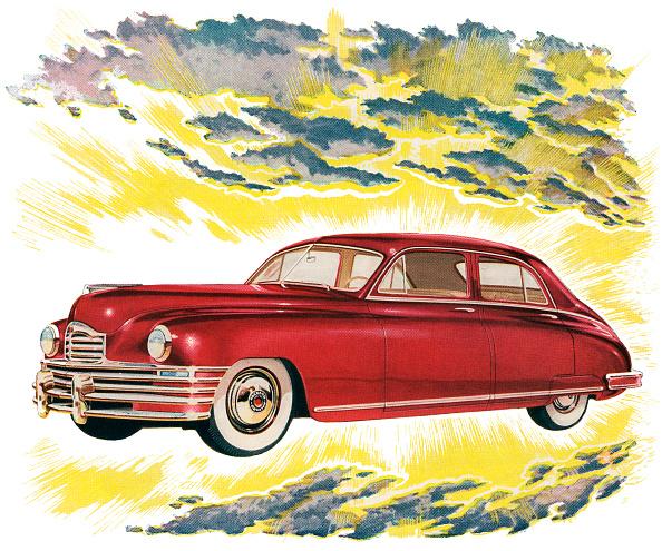 輝いている「Red 1940s Car In The Clouds」:写真・画像(18)[壁紙.com]