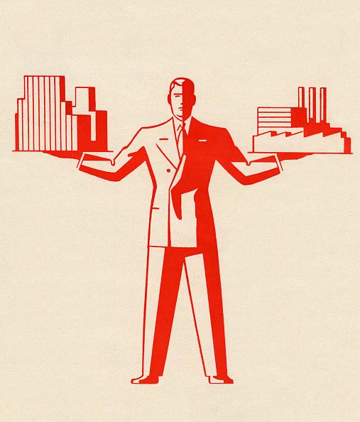 Businessman「Businessman Holding Buildings」:写真・画像(9)[壁紙.com]