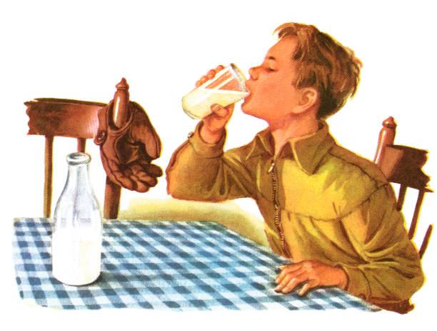 Boy Drinking Glass Of Milk:ニュース(壁紙.com)