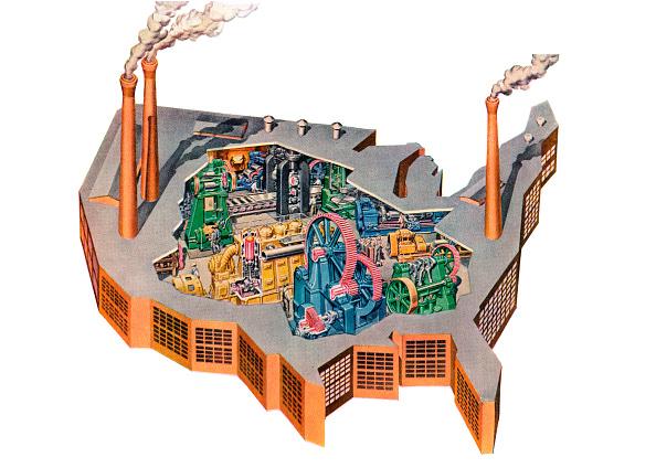 Industry「Us Map As Industrial Factory」:写真・画像(16)[壁紙.com]