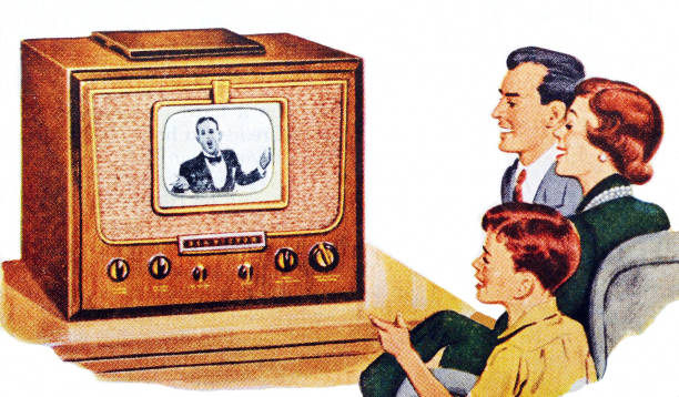 Family Watching Television:ニュース(壁紙.com)