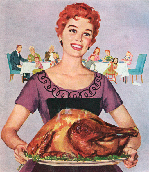 Roast Dinner「Woman With Thanksgiving Turkey」:写真・画像(13)[壁紙.com]