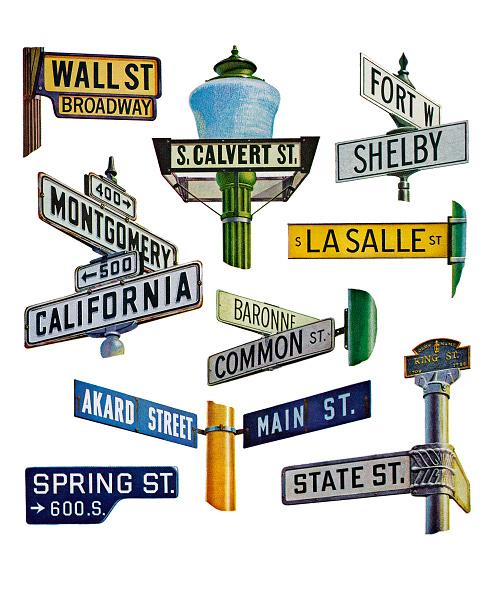 City Life「Financial District Street Sign」:写真・画像(13)[壁紙.com]