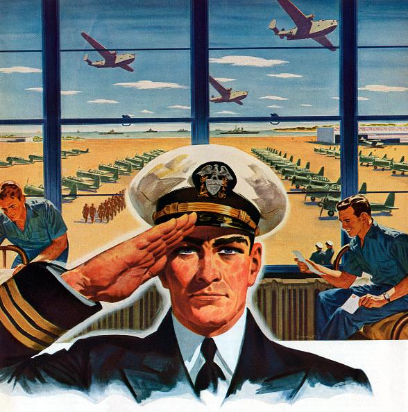 GraphicaArtis「Pilot Saluting Near Airfield」:写真・画像(3)[壁紙.com]