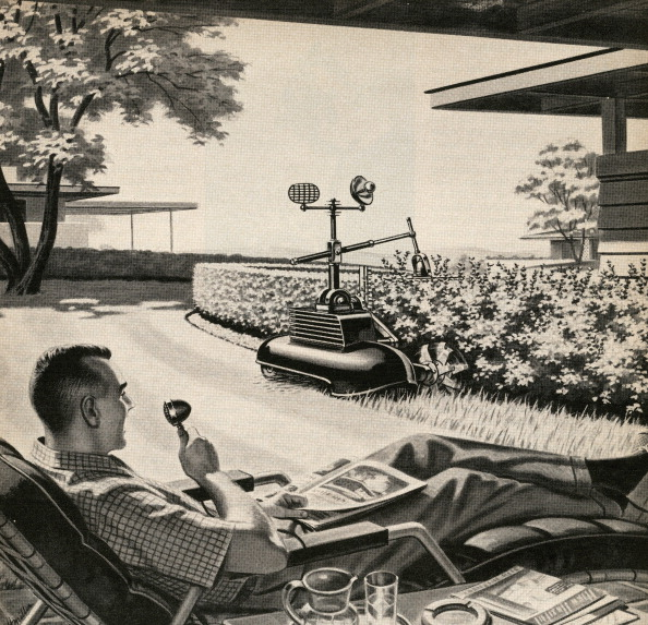 Relaxation「Man With Gardening Robot」:写真・画像(11)[壁紙.com]