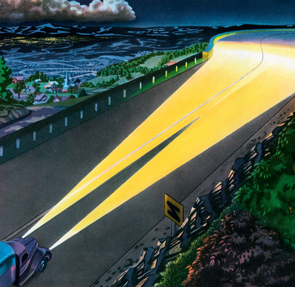 GraphicaArtis「Car Headlights Lighting Road」:写真・画像(15)[壁紙.com]