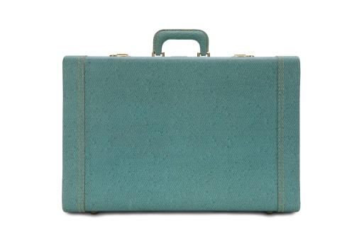 旅行「ビンテージグリーンスーツケース」:スマホ壁紙(14)