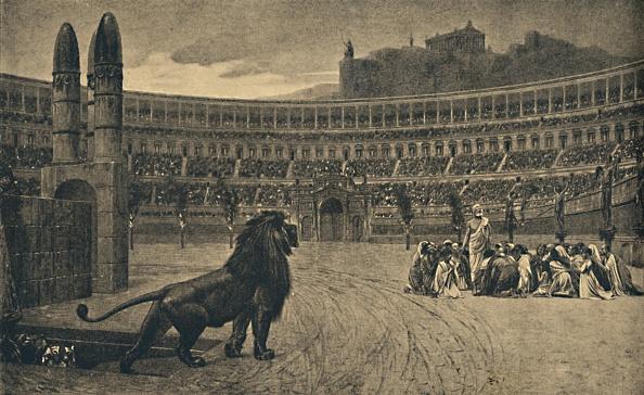 動物「Roma - Circus Maximus - Last Prayer Of The Christians Thrown To The Wild Animals 1910」:写真・画像(12)[壁紙.com]