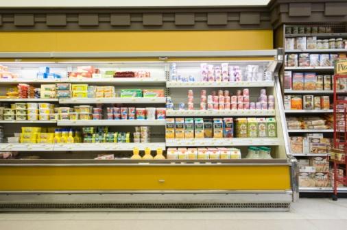 Dairy Product「Fridge counter in supermarket」:スマホ壁紙(19)