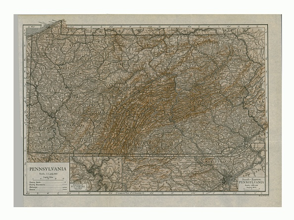 Full Frame「Map Of Pennsylvania」:写真・画像(1)[壁紙.com]