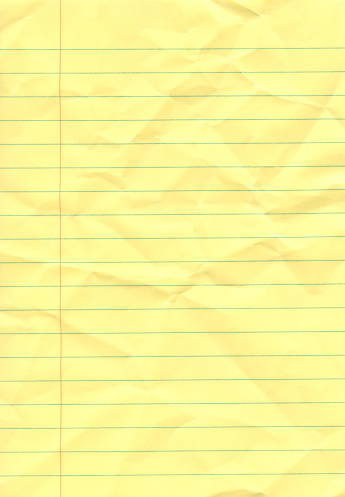 Letter - Document「Crumpled yellow notepad」:スマホ壁紙(2)