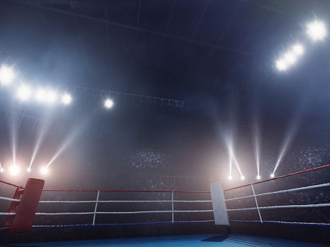 Illuminated「Boxing: Empty professional ring with crowd」:スマホ壁紙(11)