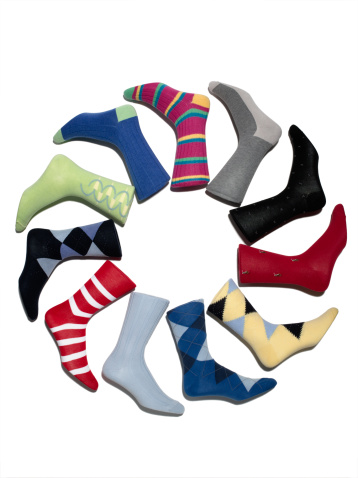 円形「A Circle of Multi-Colored Socks」:スマホ壁紙(5)