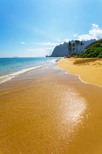ハワイ ビーチ「Kaaawa Beach, Windward, Oahu, Hawaii, USA」:スマホ壁紙(10)