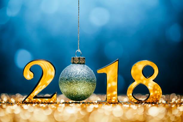 New Year Christmas Decoration 2018 - Gold Blue Party Celebration:スマホ壁紙(壁紙.com)