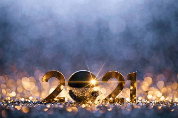 New Year Christmas Decoration 2021 - Gold Blue Party Celebration:スマホ壁紙(壁紙.com)