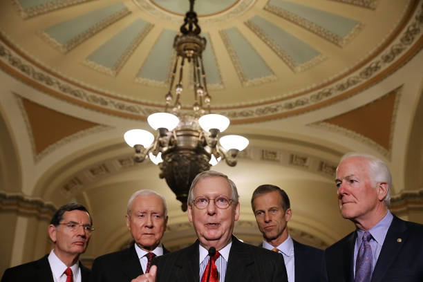 US Republican Party「Senate Leaders Speak To Press After Party Policy Luncheons」:写真・画像(19)[壁紙.com]