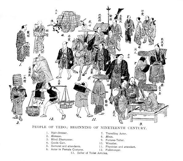 戦国武将「People of Edo, Japan, c1800 (1904).」:写真・画像(17)[壁紙.com]