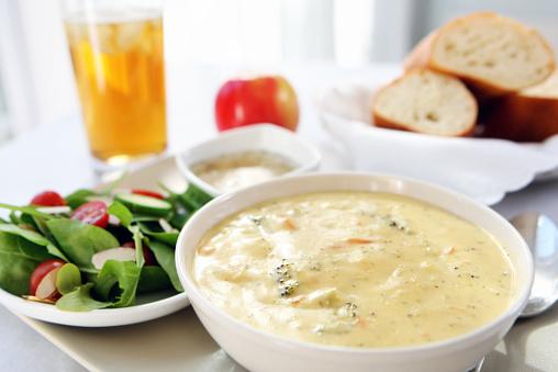 Ice Tea「lunch - broccoli cheddar soup, bread,salad」:スマホ壁紙(11)