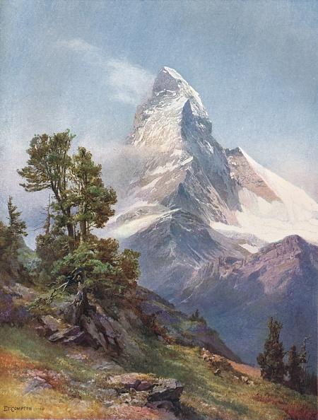 Pennine Alps「The Matterhorn From Riffelberg, 1917」:写真・画像(14)[壁紙.com]