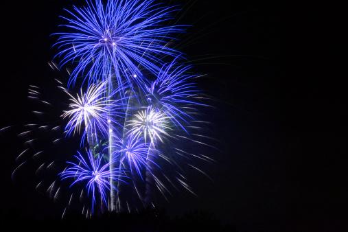 花火「ブルー 7 月 4 日の花火大会のメリーランド州」:スマホ壁紙(12)
