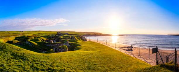 Scotland, Orkney Islands, Skara Brae, neolithic settlement:スマホ壁紙(壁紙.com)