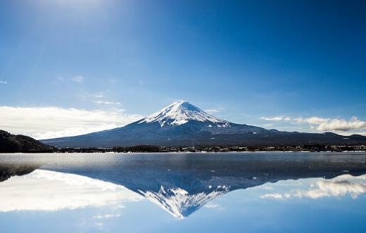 Volcano「Mt. Fuji against blue sky」:スマホ壁紙(17)