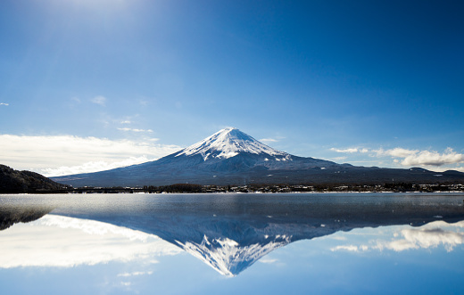 Satoyama - Scenery「Mt. Fuji against blue sky」:スマホ壁紙(0)
