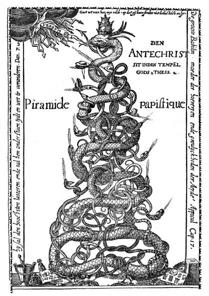 Engraving「Dutch satirical engraving entitled 'The Papal Pyramid'」:写真・画像(14)[壁紙.com]