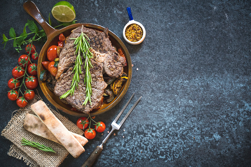 Beef「Roasted pork steak background」:スマホ壁紙(7)