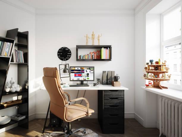 Cozy Scandinavian Style Home Office:スマホ壁紙(壁紙.com)