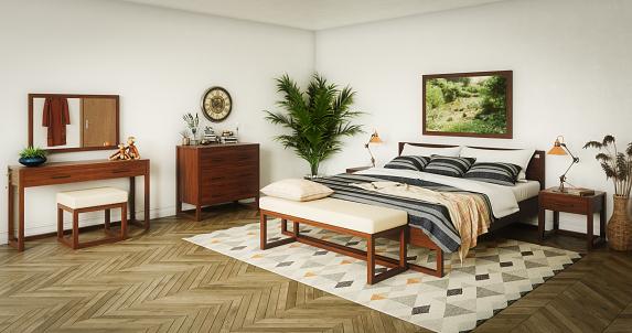 Parquet Floor「Cozy Scandinavian Master Bedroom」:スマホ壁紙(2)