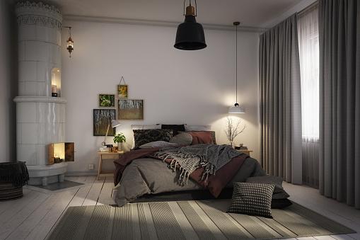 Comfortable「Cozy Scandinavian Bedroom」:スマホ壁紙(16)