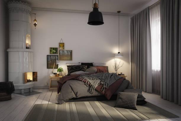 Cozy Scandinavian Bedroom:スマホ壁紙(壁紙.com)