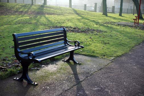 Park Bench「Foggy morning park bench」:スマホ壁紙(10)