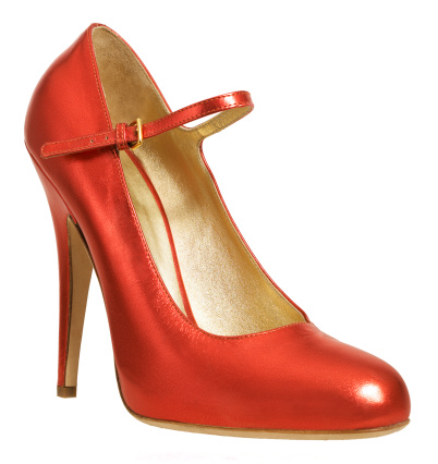 High Heels「Red high heeled shoe with ankle strap, close-up」:スマホ壁紙(5)