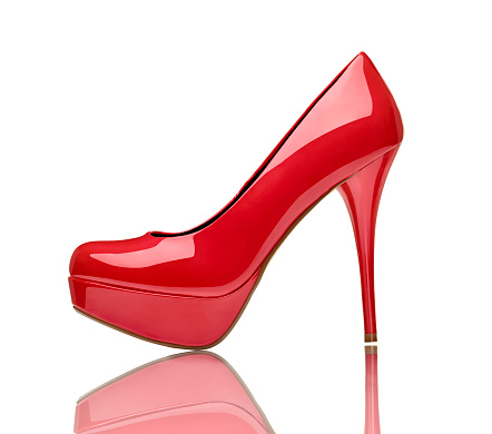 シルエット「Red high heel in front of white background」:スマホ壁紙(17)