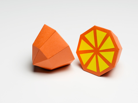 Orange - Fruit「Paper Craft Orange on White」:スマホ壁紙(19)