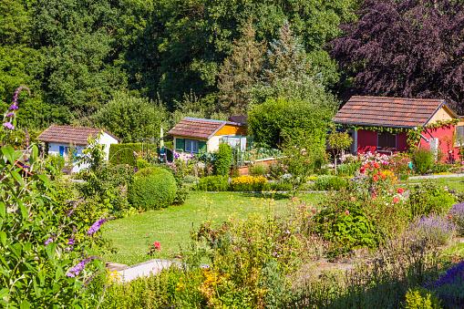 Gazebo「Germany, Esslingen, garden allotments with summer houses」:スマホ壁紙(9)