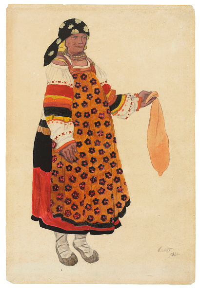 """Headwear「Peasant Woman. Costume Design For The Vaudeville """"Old Moscow"""" At The Théâtre Femina」:写真・画像(9)[壁紙.com]"""