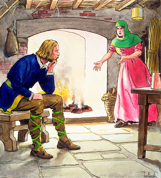 スイーツ「King Alfred Burning The Cakes (circa 1900)」:写真・画像(10)[壁紙.com]
