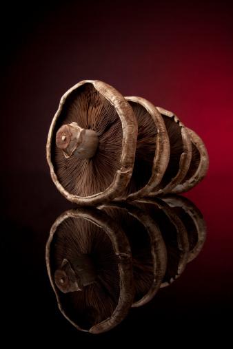 Portobello Mushroom「Portobello Mushrooms on Black Glass」:スマホ壁紙(17)