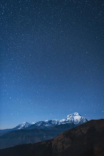 Starry sky「Dhaulagiri I night stars」:スマホ壁紙(10)