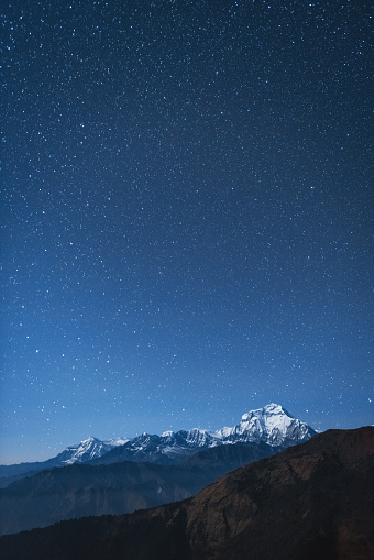 South Asia「Dhaulagiri I night stars」:スマホ壁紙(13)