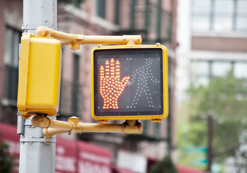Palm of Hand「'Don't Walk' symbol on pedestrian crosswalk light」:スマホ壁紙(5)